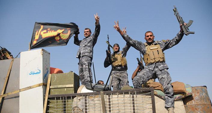 Exército iraquiano nos arredores de Mossul