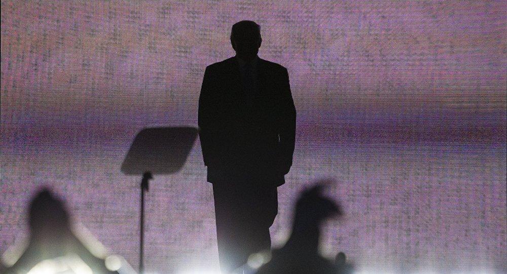 Donald Trump discursa durante o Congresso Nacional republicano em Cleveland