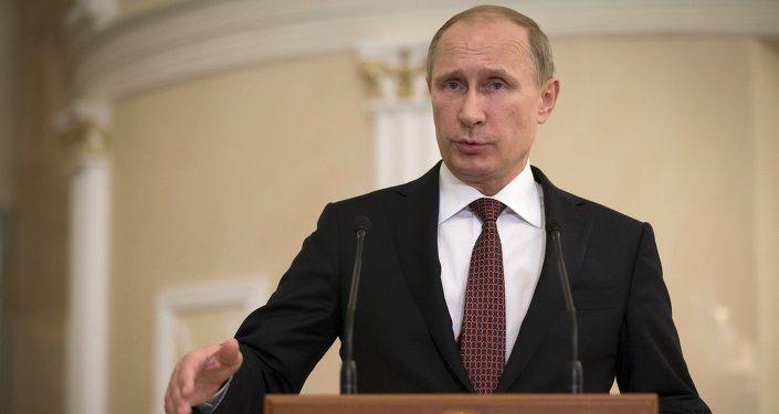Vladimir Putin, o presidente da Federação Russa