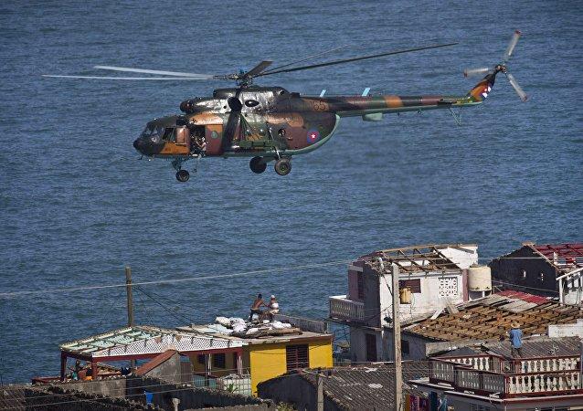 Helicóptero, Cuba. furacão Matthew