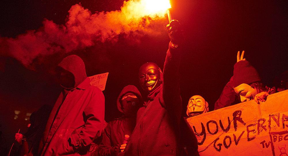 Manifestação do grupo Anonymous em Londres, 05.11.2016