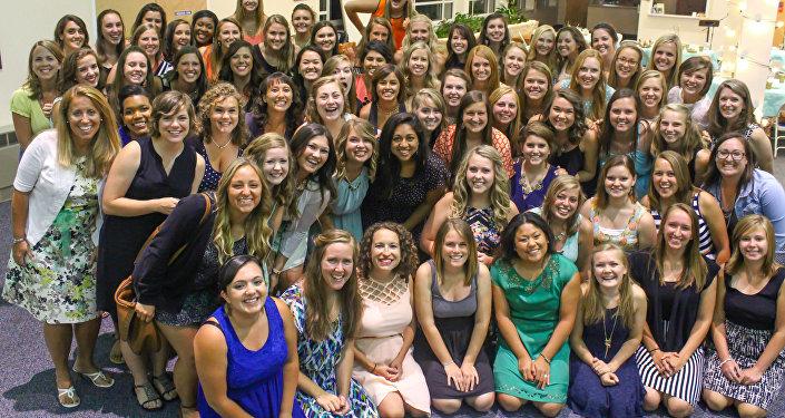 Um grupo de mulheres