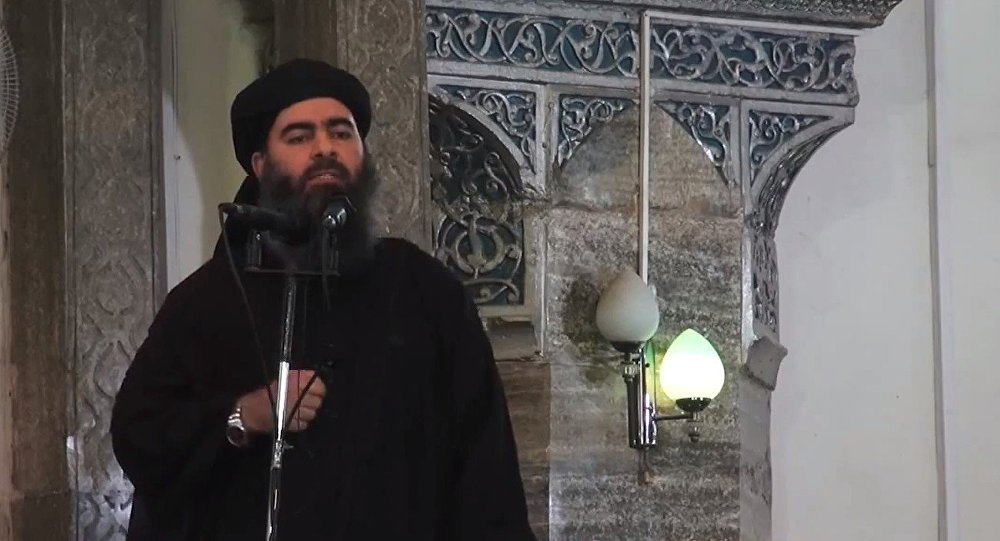 Líder do grupo terrorista Estado Islâmico Abu Bakr al-Baghdadi. (Arquivo)