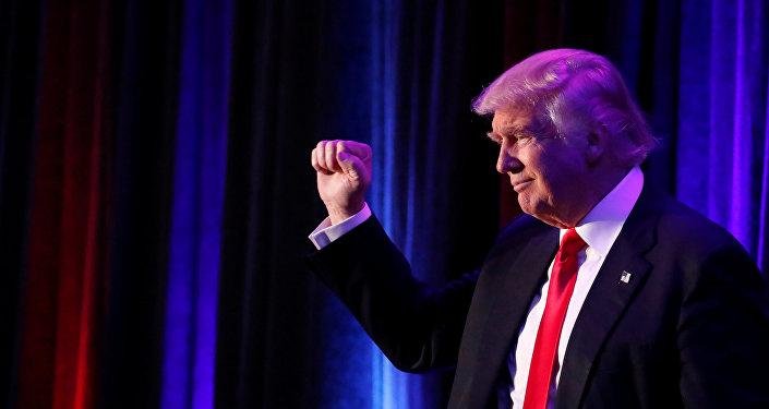Donald Trump, eleito 45º presidente dos Estados Unidos em 9 de novembro de 2016