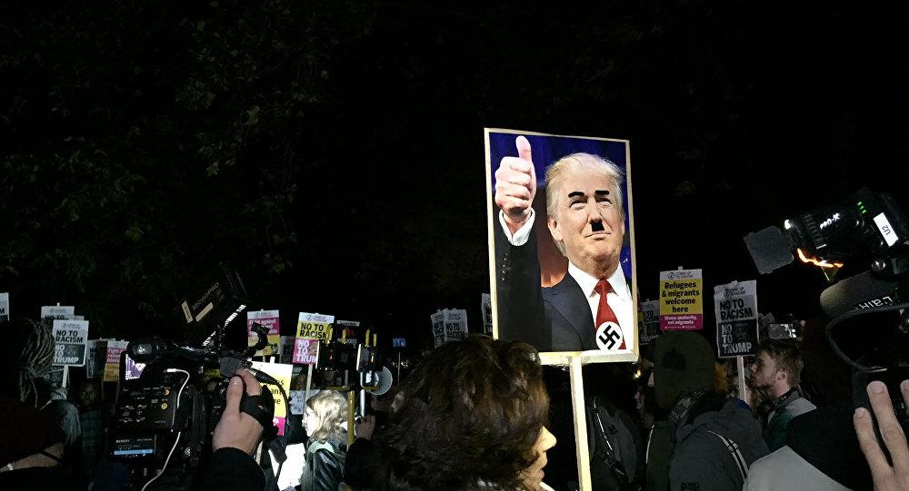 Protestos anti-Trump e antirracismo em Londres