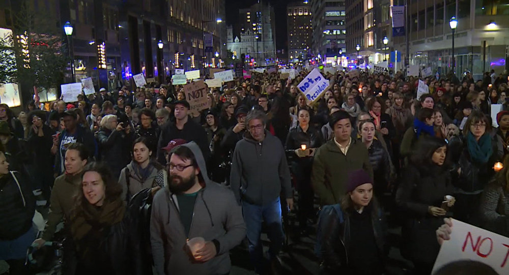 Protestos contra Trump nos EUA