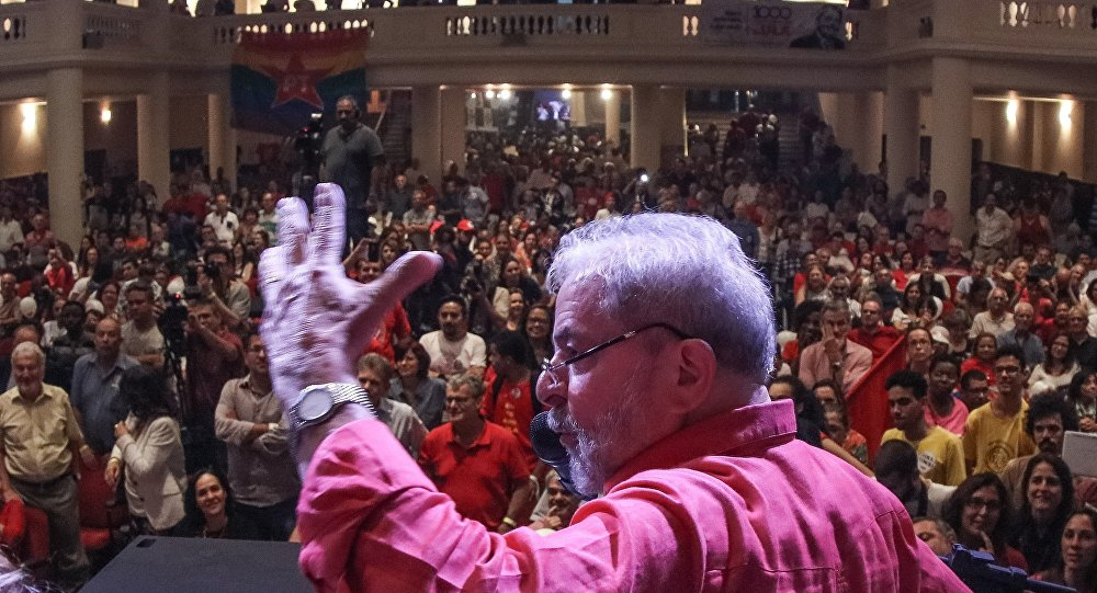 Lula em reunião do PT