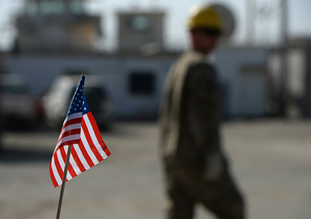 Bandeira dos EUA na Base Aérea de Bagram, Afeganistão