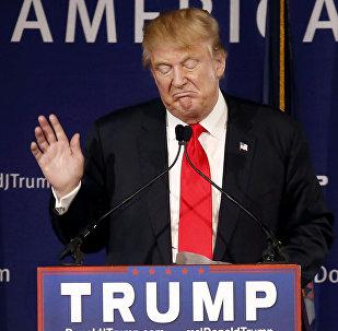 Candidato republicano à presidência dos EUA, Donald Trump,  em 7 de dezembro de 2015