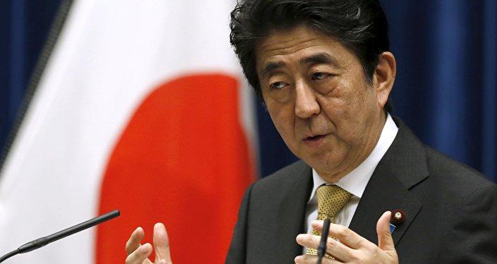 Primeiro-ministro do Japão, Shinzo Abe, durante discurso em Tóquio (arquivo)