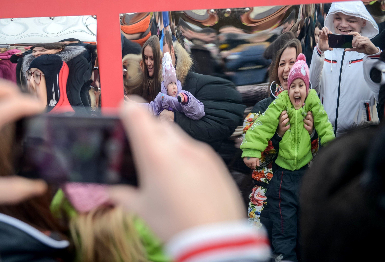 Casa de Espelhos no Parque Gorky, em Moscou