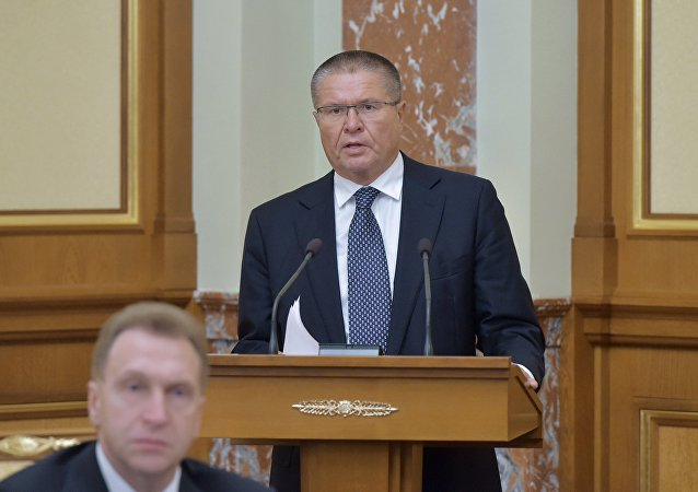 Ministro do Desenvolvimento Econômico Aleksei Ulyukaev. Outubro, 8, 2015