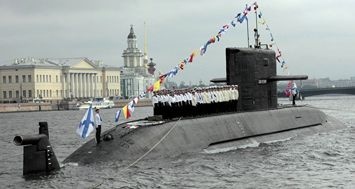 Submarino diesel-elétrico Sankt Peterburg, da Frota do Norte da Rússia