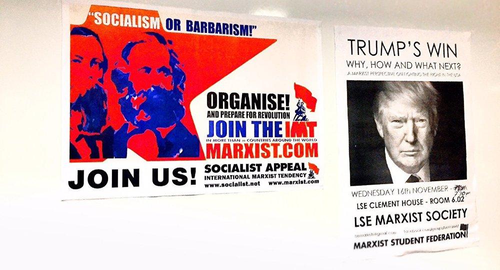 Cartazes da Sociedade Marxista da Escola de Economia e Ciência Política de Londres