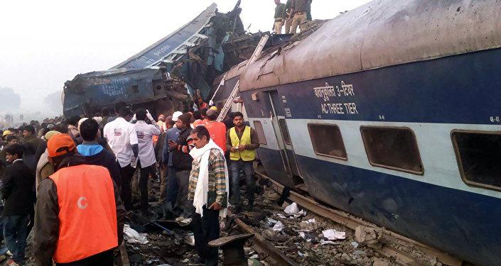 Descarrilamento de trem na Índia, 20 de novembro de 2016