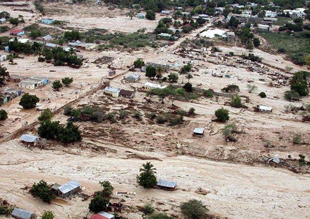 Vista geral, enchente a 280 quilômetros de Santo Domingo, República Dominicana (Foto de arquivo)