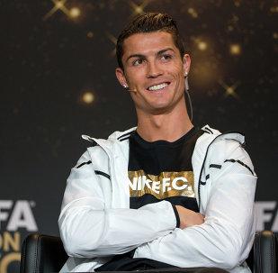 """O atacante do Real Madrid, Cristiano Ronaldo, três vezes o melhor jogador do mundo - """"Bola de Ouro"""""""