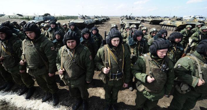 Manobras das Tropas do Interior na Crimeia