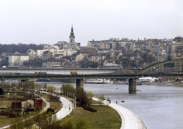 A vista de Belgrado