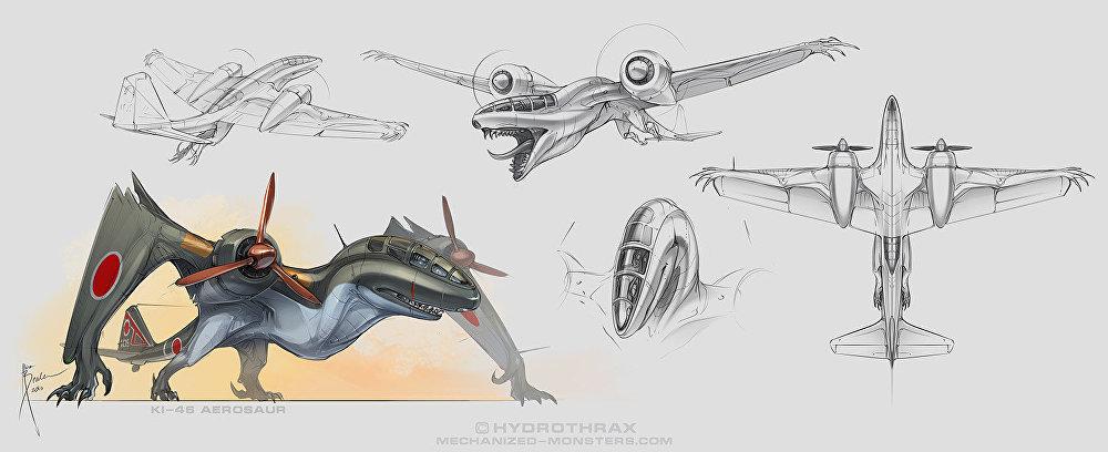 Monstros das alturas: aviões militares se transformam em criaturas assustadoras!