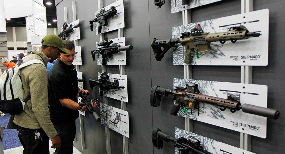 Exposição de armas de fogo em Louisville, Kentucky, em 21 de maio de 2016