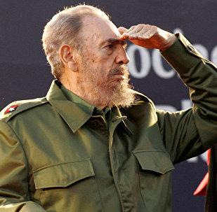 Ex-presidente de Cuba, Fidel Castro, na Argentina, em 21 de julho de 2006.