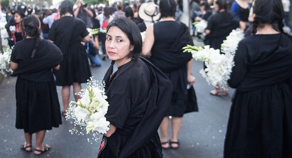 Marcha contra o feminicídio no Peru (arquivo)