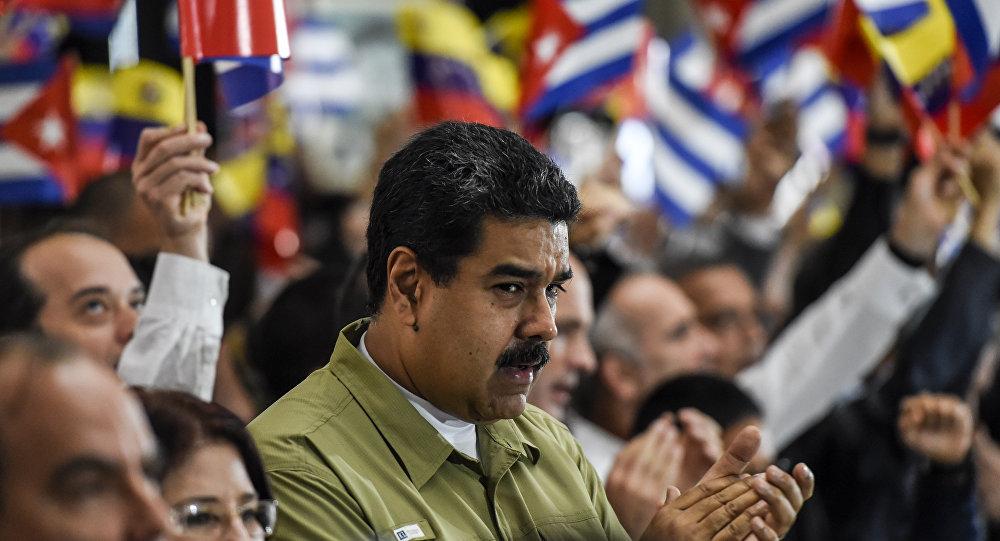 Presidente da Venezuela, Nicolás Maduro, participa em Caracas da cerimônia em homenagem a Fidel Castro, líder da Revolução cubana falecido em 25 de novembro de 2016