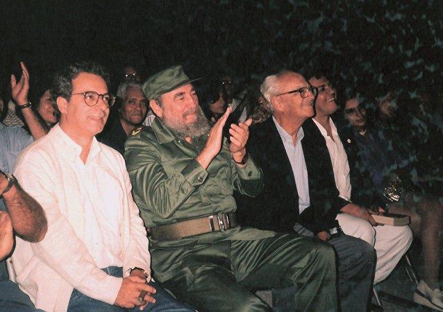 Frei Betto e Fidel Castro em fevereiro de 1992