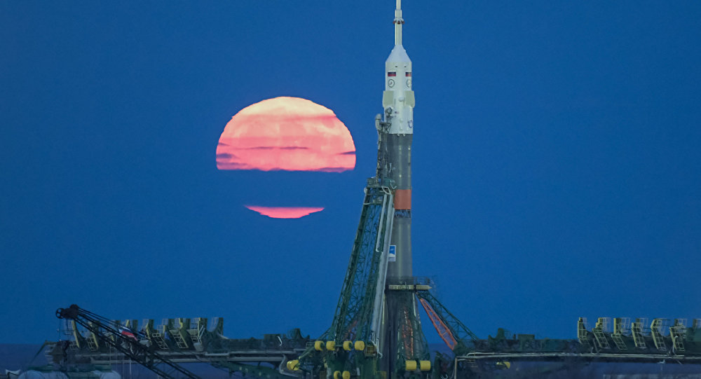 Superlua no cosmódromo Baikonur