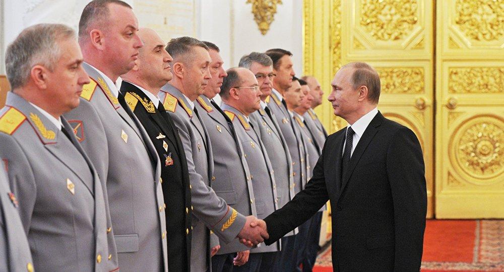 Encontro do presidente da Rússia Vladimir Putin com oficiais superior e procuradores no Kremlin