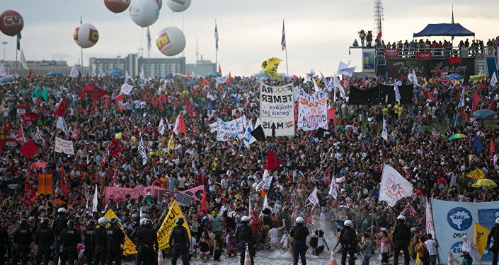 Protesto em Brasília contra a PEC dos Gastos Públicos