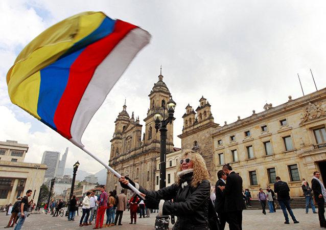 Manifestação pela paz em Bogotá, Colômbia