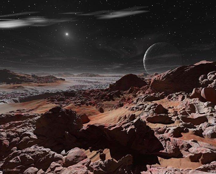 Uma pequena mancha brilhante – é assim que o sol pareceria a partir da superfície de Plutão, o décimo corpo celeste a contar do Sol e o maior planeta anão do Sistema Solar.