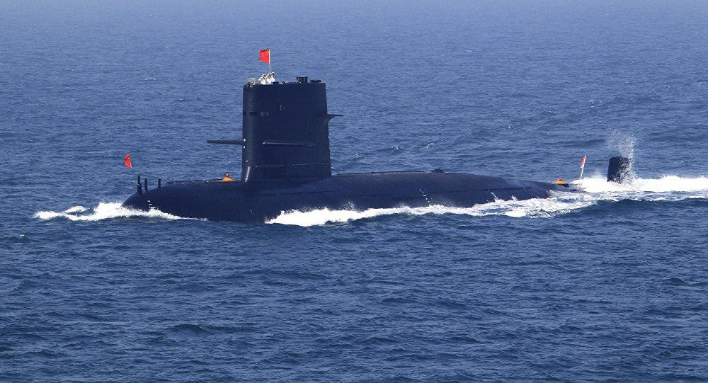 Submarino da Marinha da China durante missão