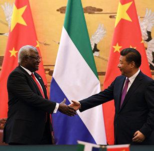 Ernest Bai Koroma e Xi Jinping