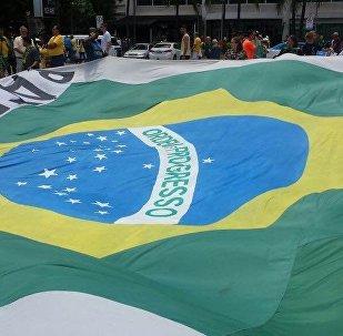 Manifestação em apoio à Lava Jato em Copacabana, Rio de Janeiro, em 4 de dezembro