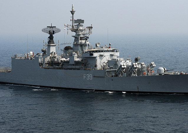 Fragata de mísseis indiano Betwa (foto de arquivo)
