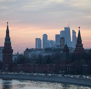 Vista de Moscou a partir da ponte Bolshoy Moskvoretsky