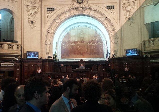 Plenário da Assembleia Legislativa do Estado do Rio de Janeiro (Alerj) nesta terça-feira, 6 de dezembro de 2016