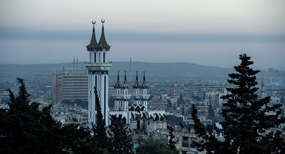 Uma mesquita em Aleppo, foto de arquivo