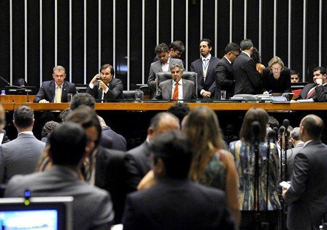 Deputados em Sessão na Câmara