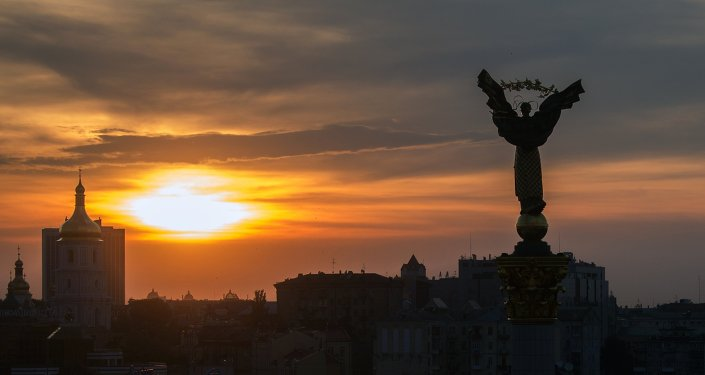 Praça Maidan em Kiev