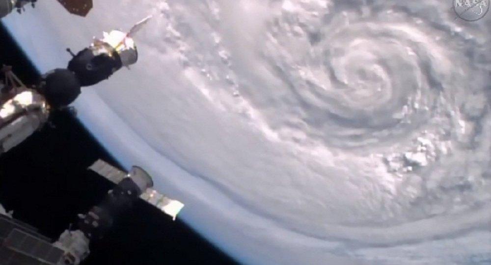 Furacão visto de espaço (foto de arquivo)