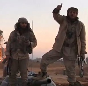 Captura de imagem de um vídeo publicado pela agência de notícias aliada do Daesh em Palmira em 11 de dezembro de 2016
