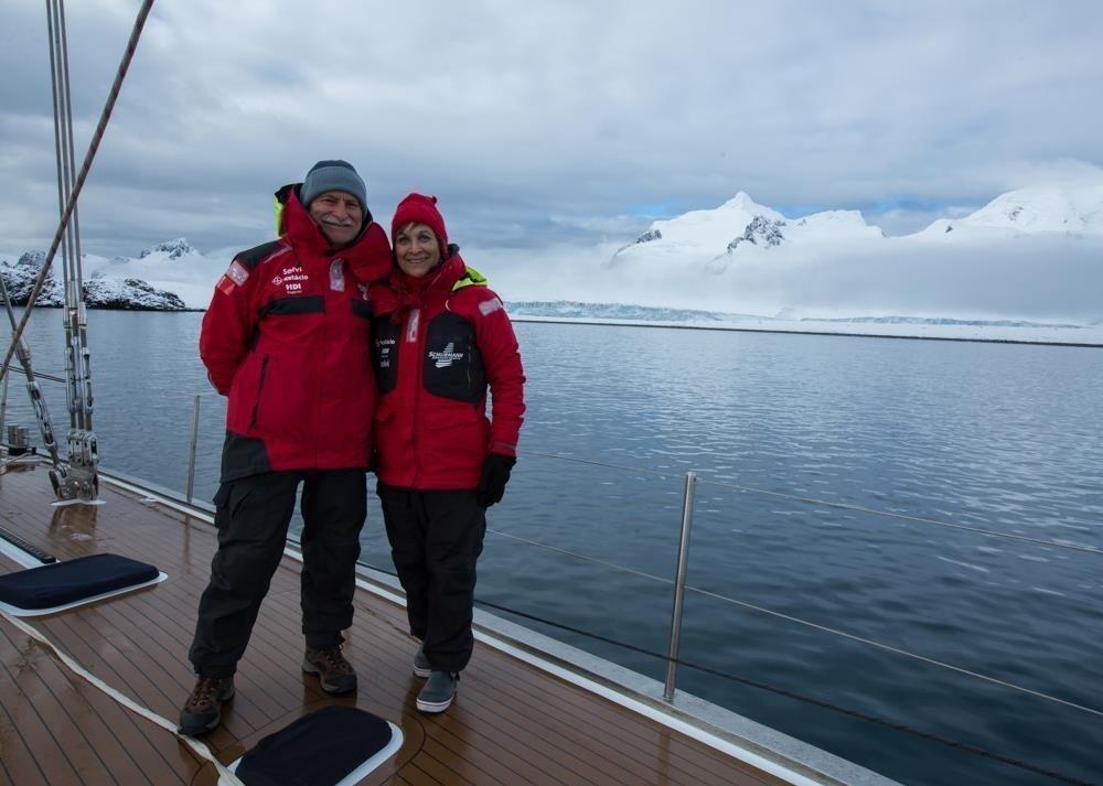 Vilfredo e Heloísa Schurmann na Antártida