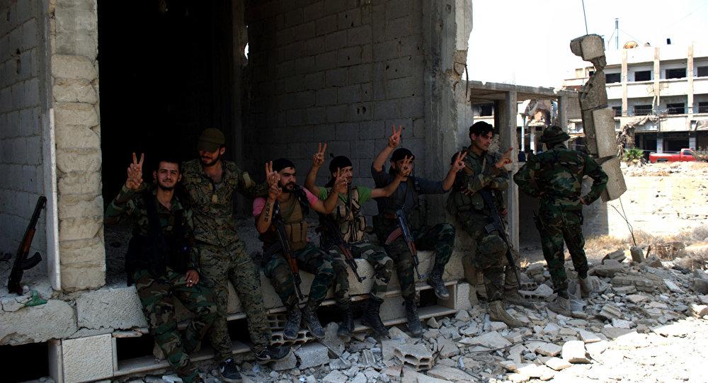 Militares do exército sírio