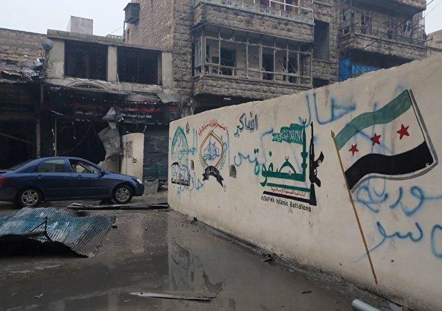 Um distrito libertado em Aleppo oriental