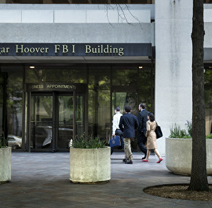 Entrada do edifício J. Edgar Hoover, sede do FBI