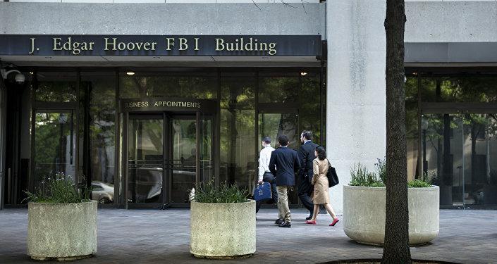 Entrada do edifício J. Edgar Hoover, sede do FBI